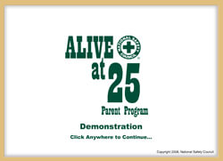 Alive at 25 Parent Program Online Demo