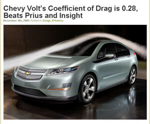 Chevy Volt's Coefficient of Drag
