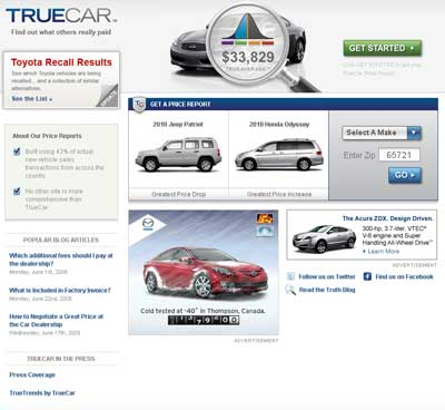 Price on a New Car: Empower Yourself with TrueCar :: Auto Upkeep Blog